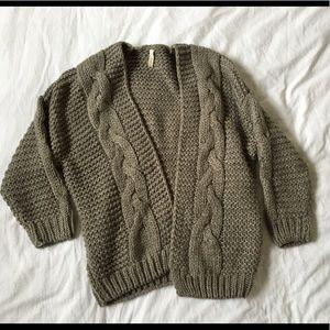 Wishlist Sweater Cardigan Taupe Sm/Med